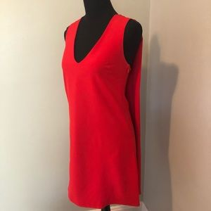 Scarlet Red Mini Dress with Cape